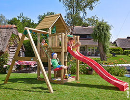Climbing frames with swing